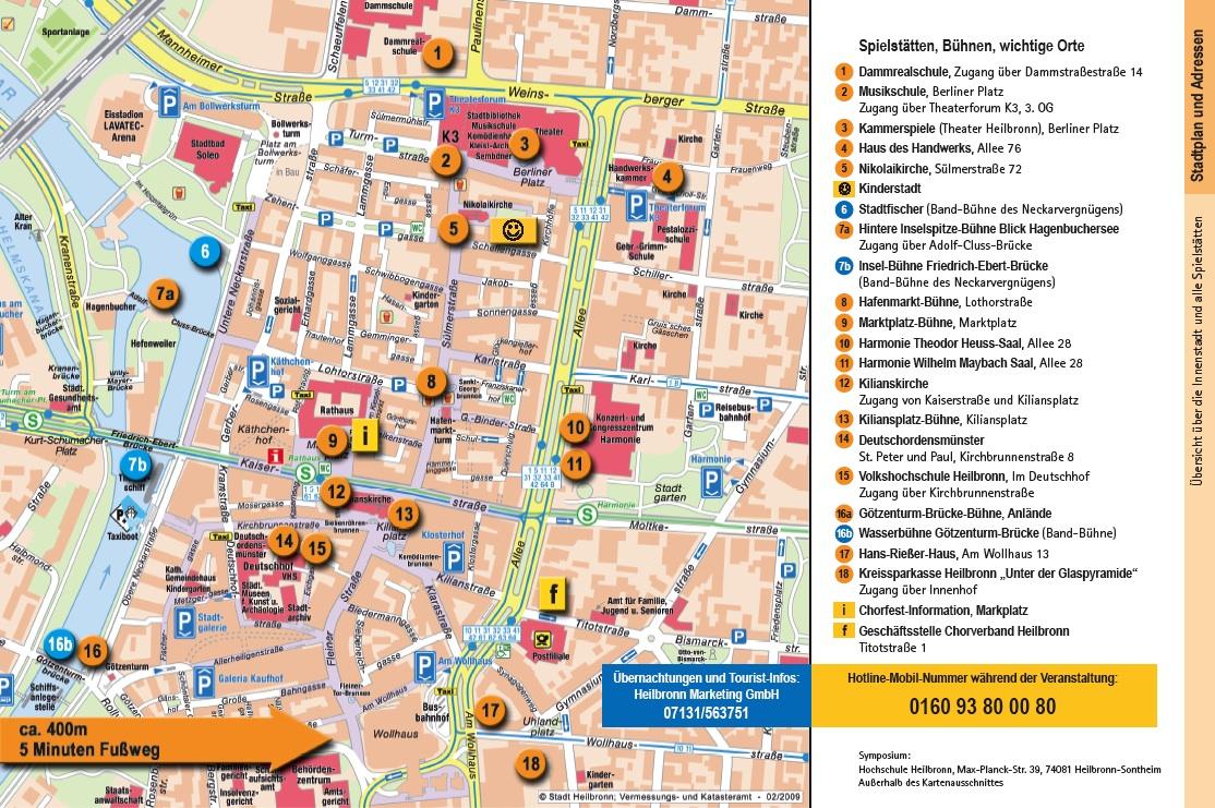 Heilbronn Karte Stadtplan.Veranstaltungsorte Und Spielstatten